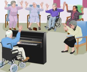 music therapy for residents with dementia